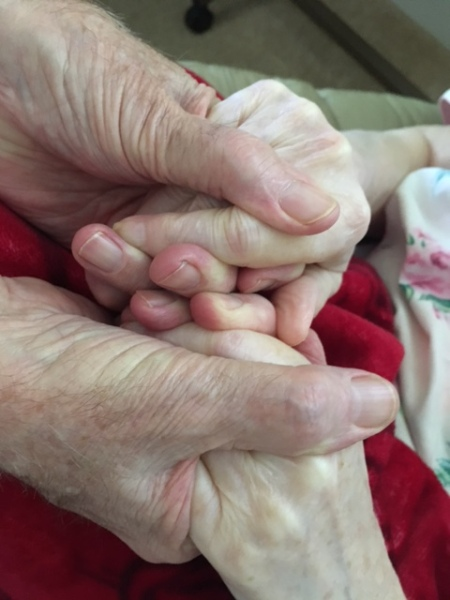 Clasping hands 2